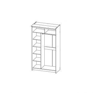 Классик Каркас 2х дверный, 590 схема