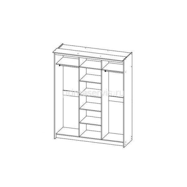 Классик Каркас 3х дверный, 590 схема