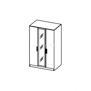 Наоми, ЛДСП Шкаф 3х дверный с зеркалом схема
