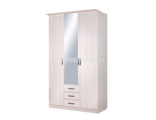 Домино, ЛДСП Шкаф 3-х дверный комбинированный