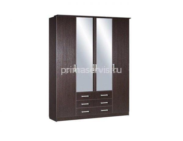 Домино, ЛДСП Шкаф 4-х дверный комбинированный