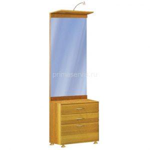 Шкаф с зеркалом м ящиками 600х2060х420