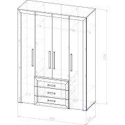 Шкаф 4х-створчатый