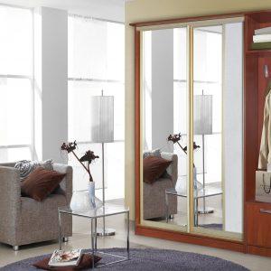 Люкс двухдверный вишня с зеркалом