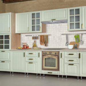 Кухня классическая Ясень зелёный