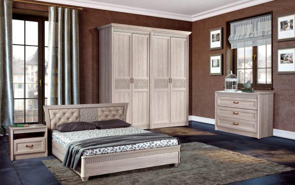 Спальня Лючия Оксфорд-Серый